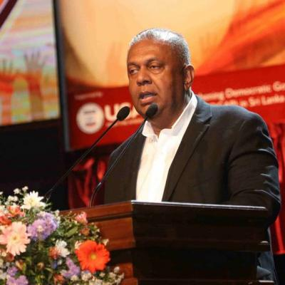 Finance Mass Media Minister Mangala Samaraweera